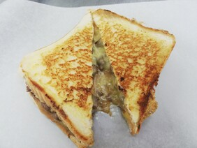 SORRY. SOLD OUT OF STEAK. Steak & Cheese Toastie